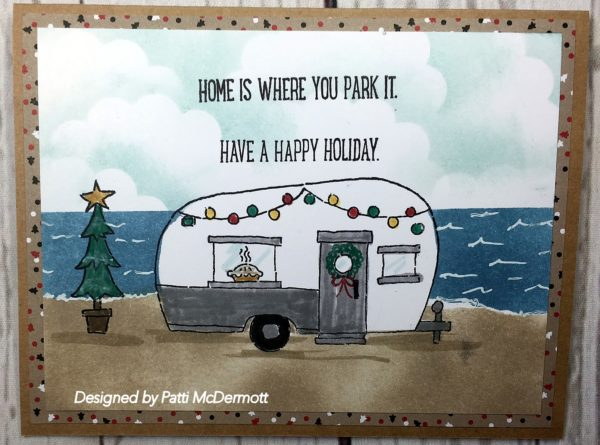 Camping Christmas Cards.Home Is Where You Park It